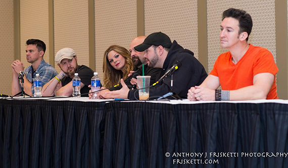Tiffany moderating the Ghost Hunters and Ghost Facers panel